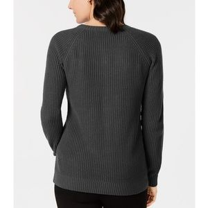 Karen Scott Sweaters - KAREN SCOTT Embroidered Stud Embellished Sweater